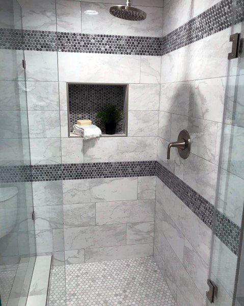 Top 70 Best Shower Niche Ideas Recessed Shelf Designs Shower Niche Bathroom Interior Design Shower Tile Designs