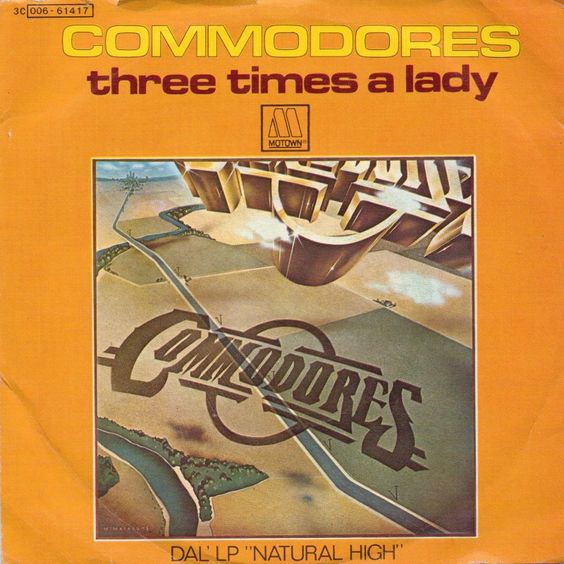 Commodores – Three Times a Lady (single cover art)