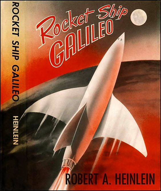 Rocketship Galileo, Robert A. Heinlein (1947), cover by Thomas W. Voter