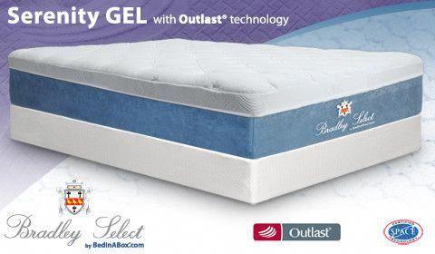 Serenity Gel Memory Foam Mattress With Outlast