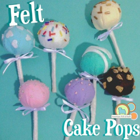 FREE Felt Cake Pop Tutorial ~ Felt Food