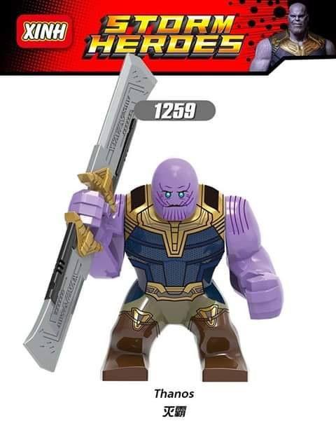 Thanos Avengers Marvel Supervillain Endgame Iron Man Custom Lego Mini Figure