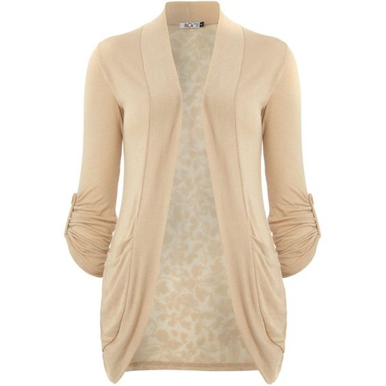 Wal-G Waterfall lace back cardigan found on Polyvore