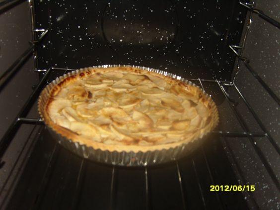 Tarta de manzana super liviana