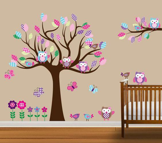Custom Tree Decal Nursery Wall Stickers Flowers by NurseryDecals, $129.99
