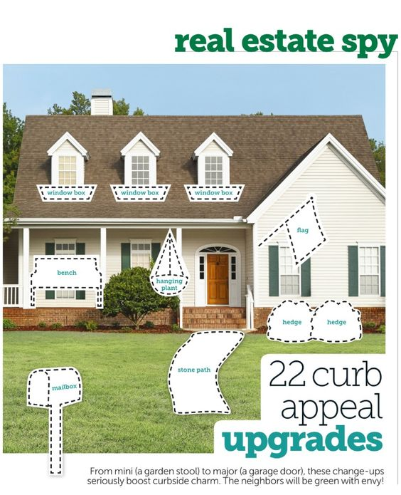 Curb Appeal Ideas: Estate Agents, Make Your And House Beautiful On Pinterest