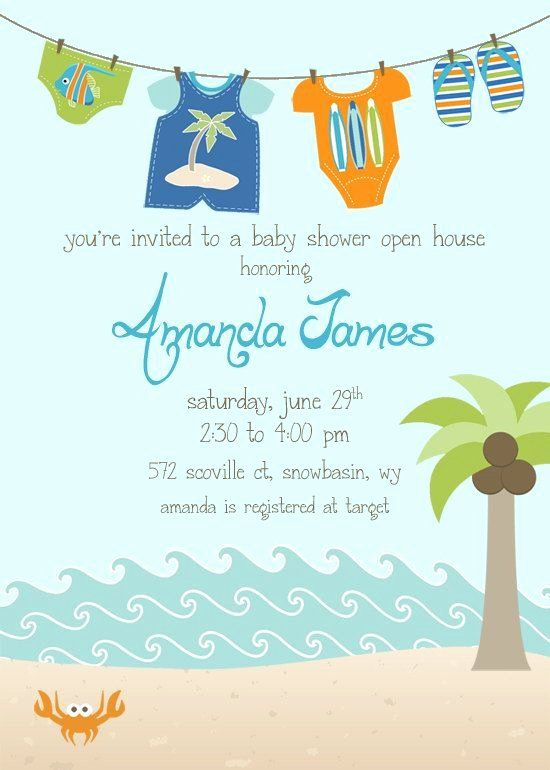20 Beach Baby Shower Invitations In