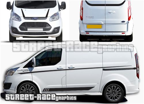 Ford Transit Custom Sport Graphics Stickers Transit Custom Ford Transit Ford Badges