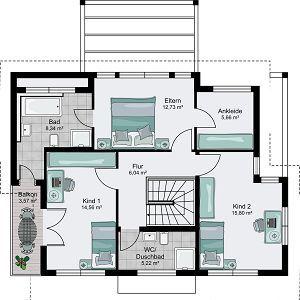 streif haus berlin bad hat balkon zugang ankleide und schlafzimmer tauschen hausgrundrisse. Black Bedroom Furniture Sets. Home Design Ideas