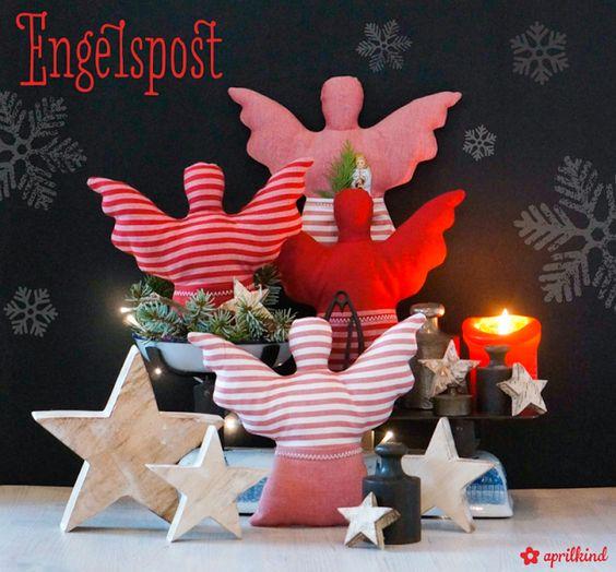 engelspost deko stoff engel weihnachtsengel n hen engel pinterest engel deko und sterne. Black Bedroom Furniture Sets. Home Design Ideas