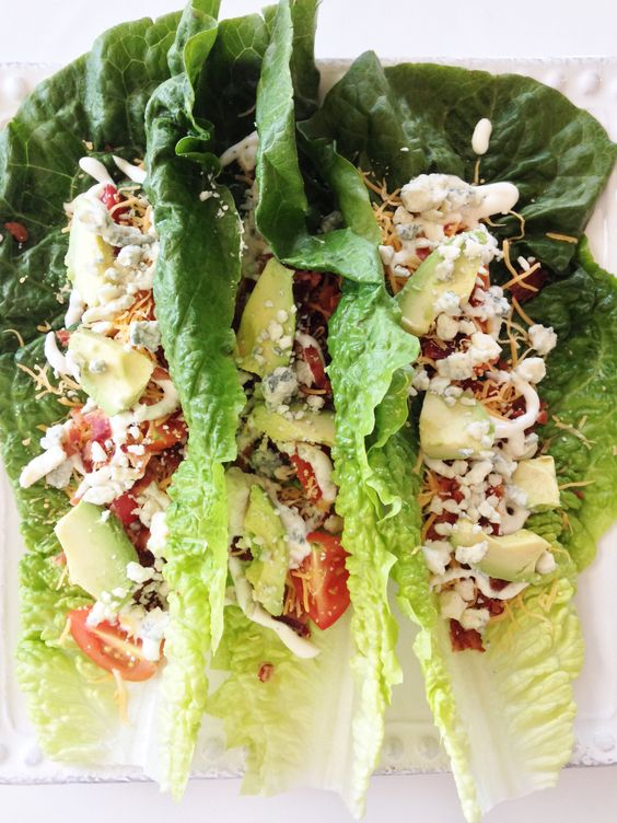 Lettuce wraps, Wraps and Caesar salad on Pinterest