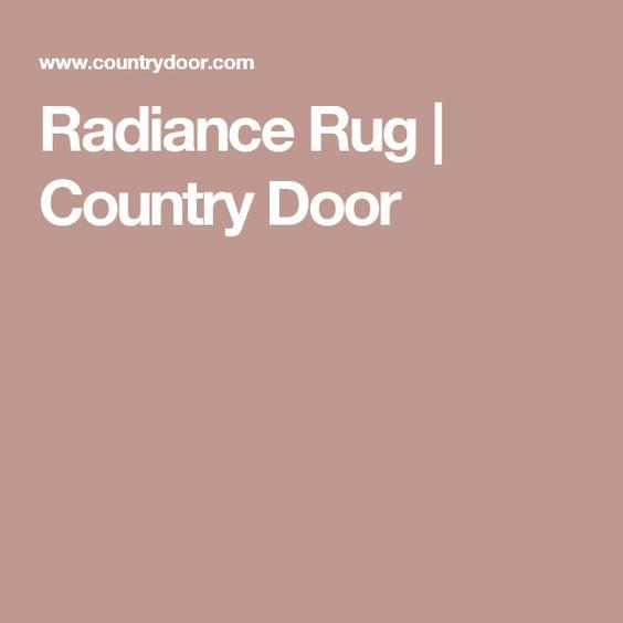 Radiance Rug   Country Door