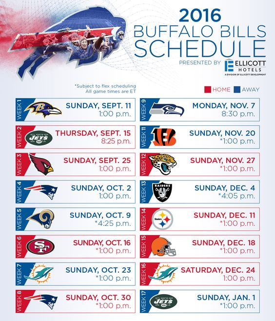 Buffalo Bills football is coming soon! Check out the 2016 schedule.
