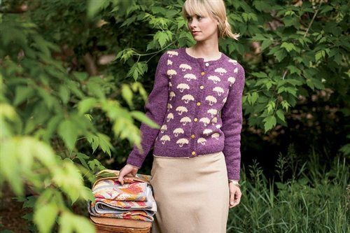 Pluie Cardigan - Knitting Daily.  This makes me smile.
