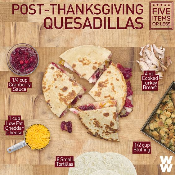 Sometimes Thanksgiving leftovers are just as delicious as the meal itself! Double click for a 7PPV Thanksgiving Quesadilla recipe.thn