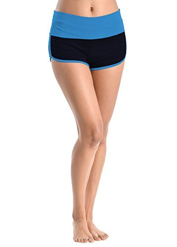 Basico Women's Lady Cotton Spandex Fold Over Waist Yoga Short Pants * Want to know more, visit http://www.myvacationdestinations.com/fitness_store/basico-womens-lady-cotton-spandex-fold-over-waist-yoga-short-pants/?qr=010716021345