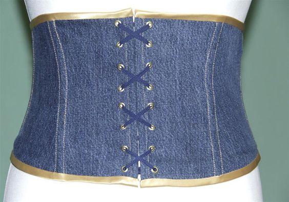 Taillengürtel Jeans UNIKAT Gr. 40/42