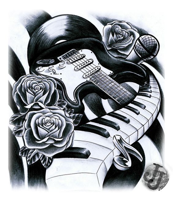 Music art | Kent Tattoo Art Tattoo Designs By Sue Reilly - Free ...