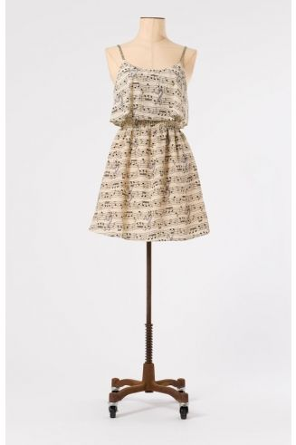The Rhythm of Life Music Dress by Miss Patina - Dresses - Clothing