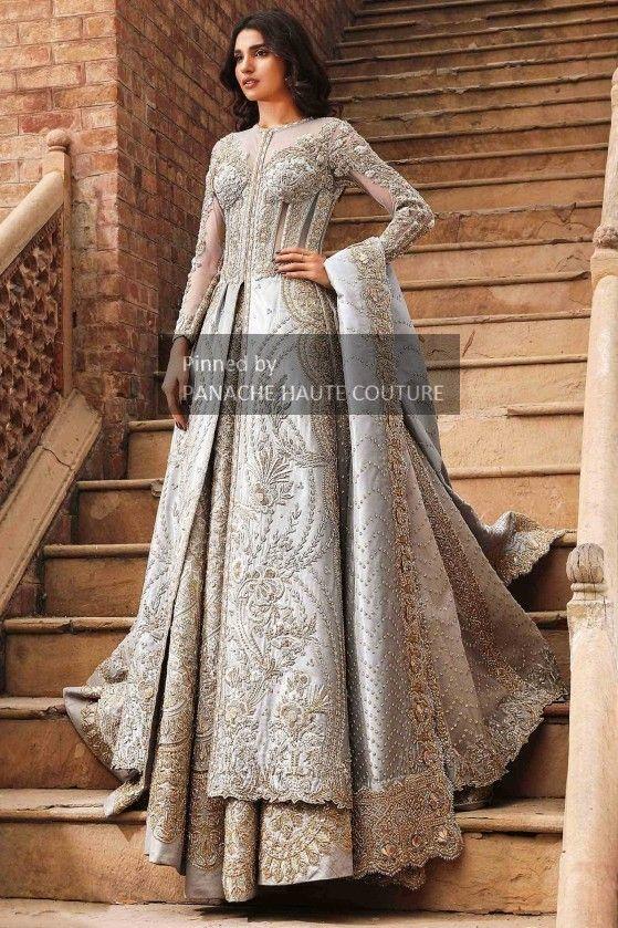Grey Colour Wedding Jacket Lehenga Contact Us Through Whatsapp