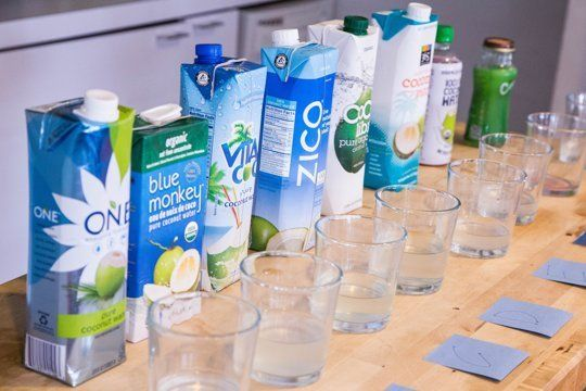 The Coconut Water Taste Test: We Tried 8 Brands and Ranked Them — Grocery Taste Test | The Kitchn
