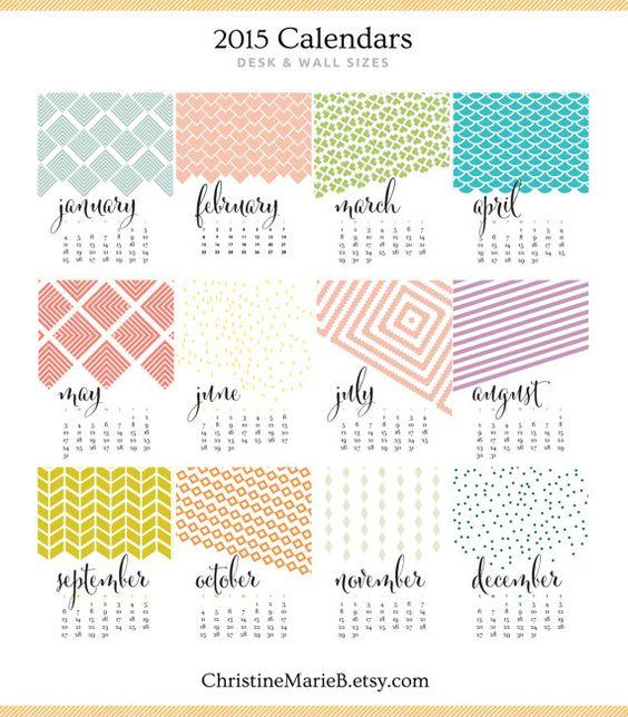 Calendar Monthly Design : Monthly wall calendar bold modern chic designs