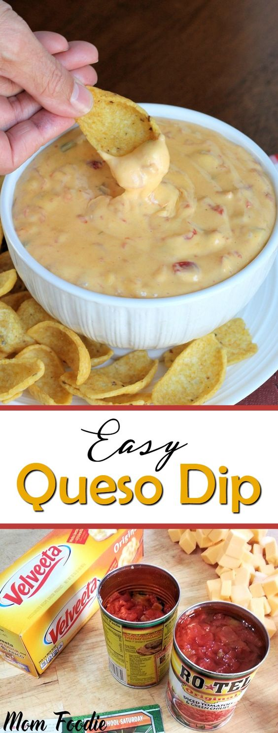 Easy Queso Dip Recipe - great party appetizer