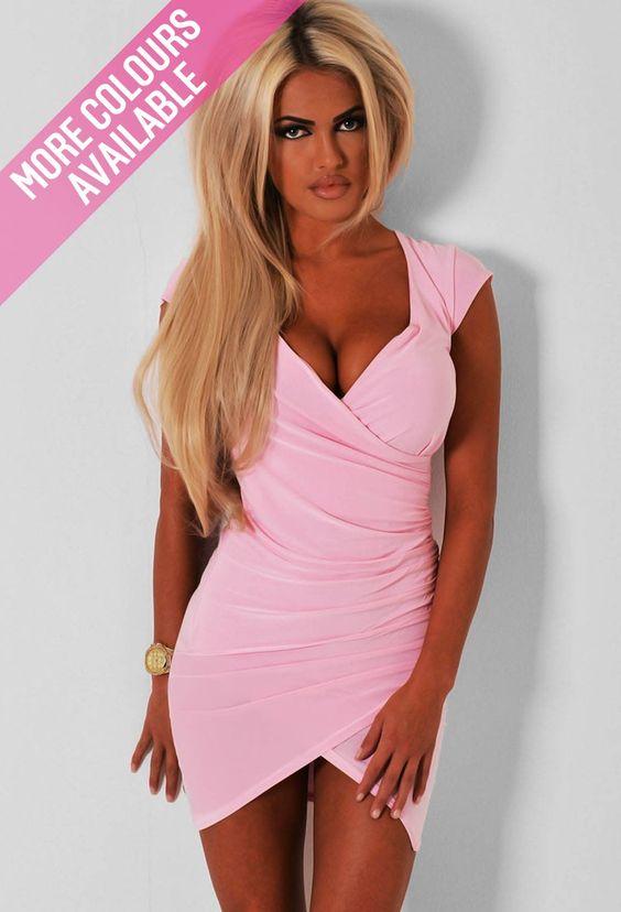 Geneva Wrap Bodycon Mini Dress  Pink Boutique  M y F a s h I o n ...