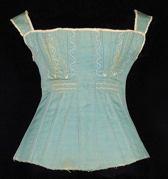1825-35, Schnürbrust aus Baumwolle, USA