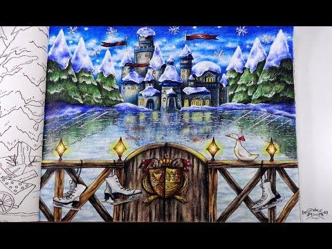 Romantic Country The Third Tale Frozen Lake Part 4 Tutorial Prismacolor Youtube Romantic Country Coloring Books Color Me Beautiful