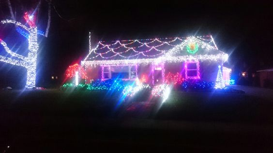 Gingerbread house style lights