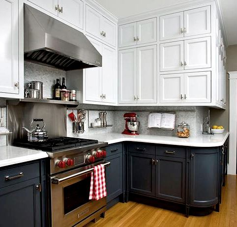 Two tones two toned kitchen and cabinets on pinterest for Kitchen cabinets 999