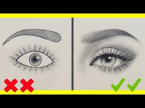 تعلم الرسم اخطاءك في رسم العين وكيف ترسمها بشكل صحيح رسم العين بالرصاص للمبتدئين Y Beauty Art Drawings Pencil Art Drawings Art Drawings Sketches Creative