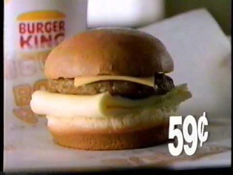 1991 Burger King Breakfast Buddy Sandwich Tv Commercial Burger
