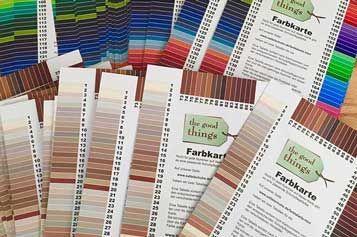 Die Farbtabellen der Schuhpflegemittel zu unseren Farbkarten. Sortiert nach Farbnummern zu Schuhpflegemitteln und umgekehrt.