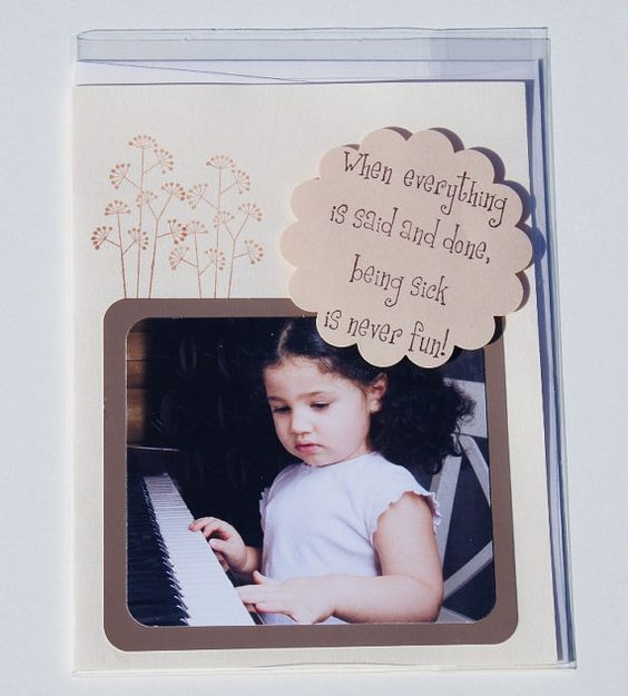 Handmade Get Well Card using paint chip samples