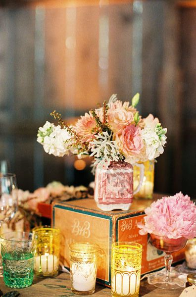 LOVE this floral and glassware collection!!  Planning & Production by   kellyoshirodesign..., Florals & Event Design by triciafountaine.com, Photography by carolinetran.net