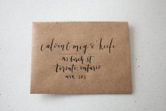 Custom Handwritten Calligraphy Envelopes Weddings