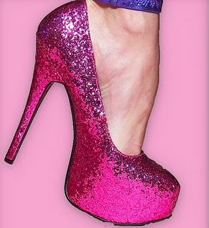 Hot Pink Glitter Heels | a girl should be two things: classy and ...