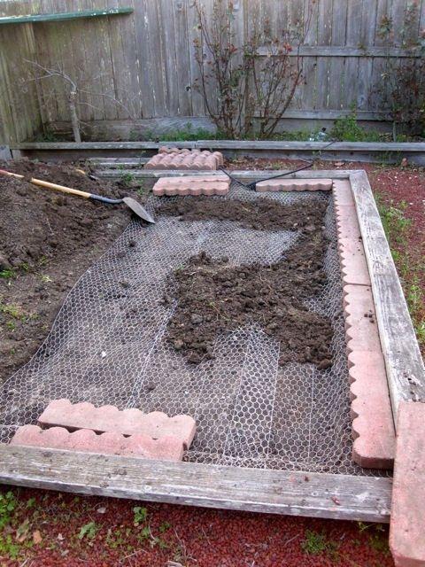Brick foundation wire under floor of run chicken