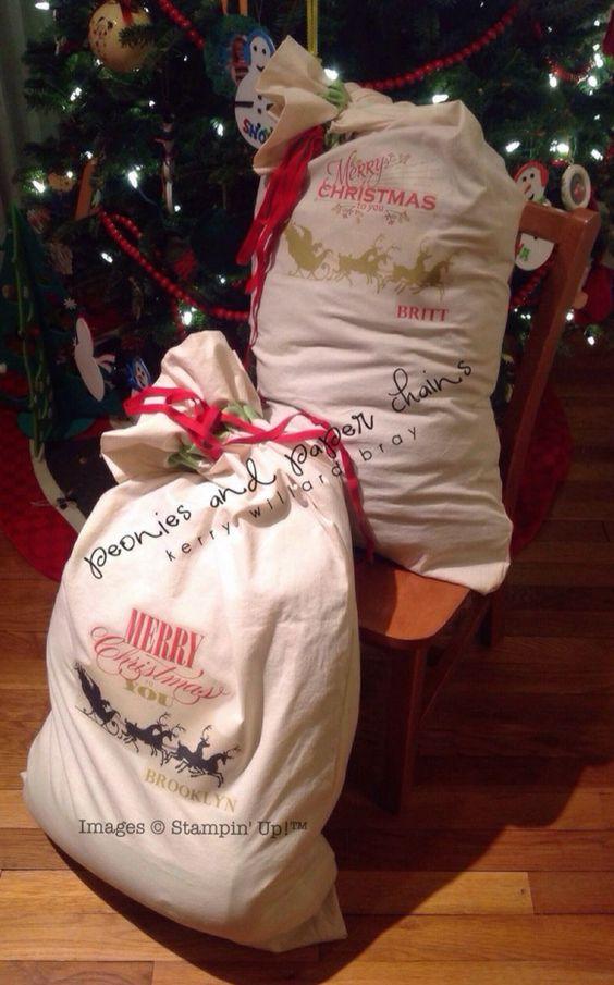 Santa sack, Sacks and Personalised santa sacks on Pinterest