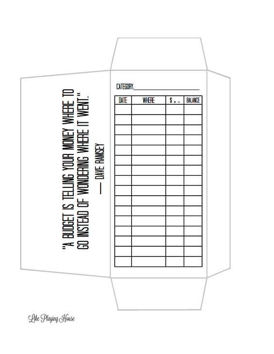 Envelope Budget Template  Envelope Templates