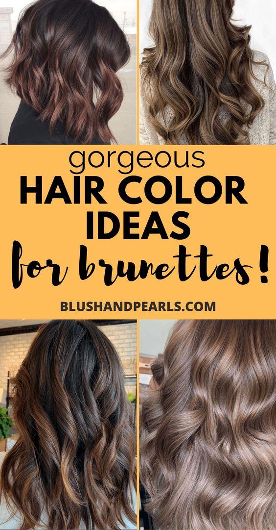 10 Fall Winter Hair Colour Ideas For Brunettes Blush Pearls
