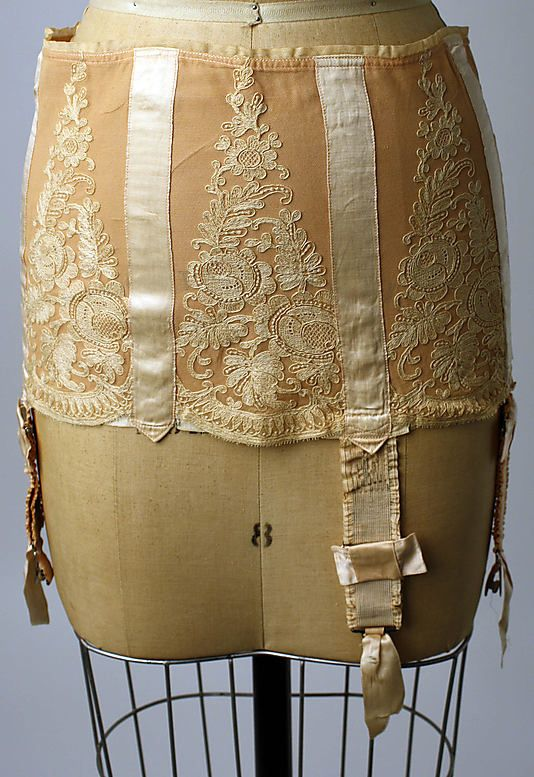 Corset, Jay-Thorpe, Paris, 1928.  silk, rubber, steel, mother-of-pearl