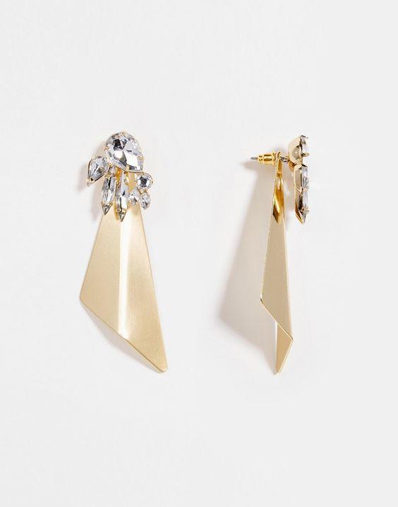 Image 1 ofASOS Statement Shard & Occasion Swing Earrings
