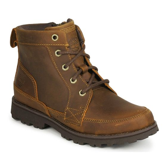 Bota baja Timberland EK 6 IN BOOT WITH SIDE ZIP Marrón - Entrega gratuita con Spartoo.es ! - Zapatos Nino 85,00 €