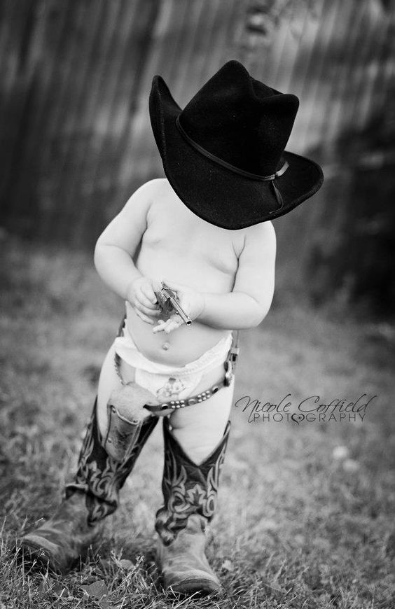 country cowboy toddler photography. Western boots ...