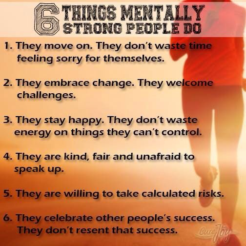 I so want to be mentally strong ALL the time!