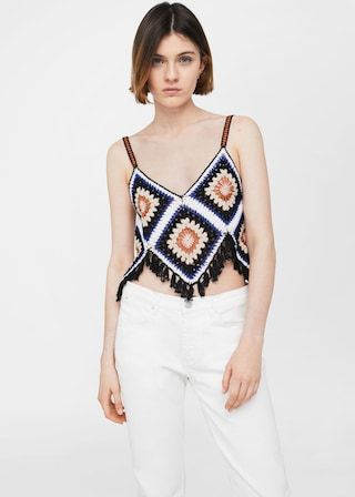 Crochet top -  Women | MANGO USA