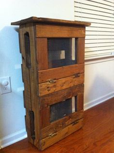 diy potato and veggie bin out of pallets | Pallet Wood Potato & Onion Bin by BTeamCreations on Etsy, $139.00 More